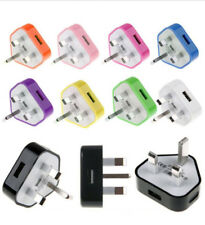 MasterStor USB CE UK Mains Wall 3 Pin Plug Power Adaptor Charger For All Mobiles