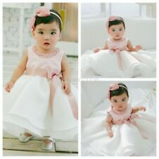 Baby Infant Baptism Girls Tutu Dress Kid Wedding Princess Party Christening Gown