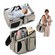 Baby Portable Diaper Travel Bag Changing Station Infant Nursery Crib Folding Bed