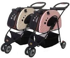Petzip Mochi Pet Stroller, Carrier, and Car Seat in Pink or Beige Model FS1211