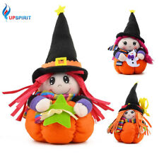 Halloween Witch Doll Pumpkin Stand Halloween Bar Home Party Decorations Table