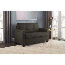 Sofa Bed Sleeper Couch Twin Memory Foam Mattress Gray Blue Living Room Furniture