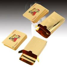 24k Gold Plated Playing Cards Full Poker Deck Pure with Box Christmas Gift KJ