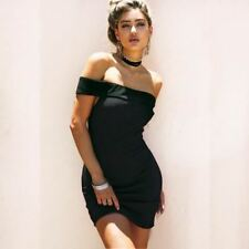 New Stylish Off Shoulder Backless Zipper Slim Fit Party Mini Dress For Women
