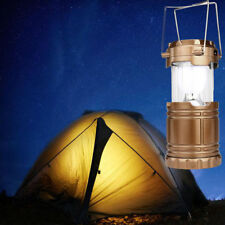 Solar USB Charging Rechargeable Outdoor Camping Tent Lantern Light 6 LED Lamp US