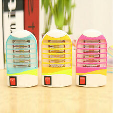 Mini Electric LED Socket Mosquito Fly Bug Insect Trap Night Lamp Killer Zapper