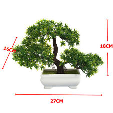 180mm Bonsai Tree in Pot Artificial Plastic Planter Plant Office Home Decoration