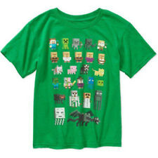 Minecraft Sprites Green Boys Graphic Official Licensed T-Shirt