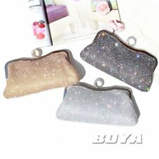 women ladies Rhinestone bling clutch ladies bag wallet purse mini handbag chain