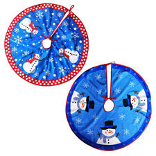 NEW Christmas Tree Skirt Stands Round Snowflake Snowman Ornaments Reindeer Decor