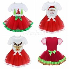 Baby Girls Kids 2PCS Top Skirts Tutu Outfit Set Christmas Fancy Costume Dress Up