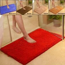Non-slip Microfiber Chenille Soft Absorbent Carpet Bath Mat Bedroom Rug Pad