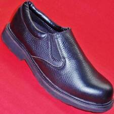 USED Men's CHINOOK MANAGER SLIP ON Black Leather Slip Resistant Work/Dress Shoes