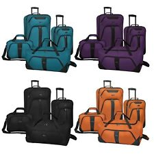 US Traveler Oakton 4pc Expandable Rolling Suitcase Duffel & Tote Bag Luggage Set