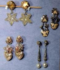 """EXQUISITE VINTAGE DANGLING 3"""" to 3-3/4"""" EARRINGS CLIP & PIERCED~YOUR CHOICE =EUC"""