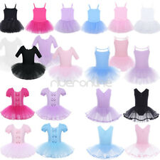 Kids Girls Tulle Ballet Dress Tutu Skirt Princess Dancewear GYM Leotard Costumes