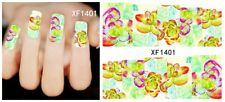 Hot Nail Art Tips Decals Water Transfer Mixed Flowers Stickers Tips Decoration