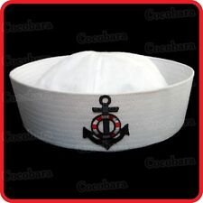 KIDS CHILDRENS/ADULTS NAVY SAILOR HAT-POPEYE-GOB-YACHT-BOAT-SEA-COSTUME-ANCHOR04