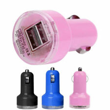Wonderful Bullet Adaptor Dual USB 2-Port Car Charger For iPhone iPod Touch