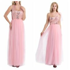 Women's Strapless Long Sequins Formal Evening Party Dresses Cocktail Prom Gown