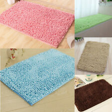 Anti-slip Absorbent Chenille Bath Mat Bathroom Bedroom Floor Mat Carpet Area Rug
