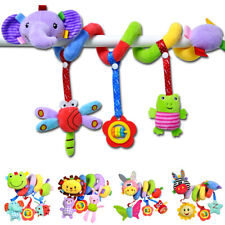 Baby Crib Stroller Activity Spiral Bed Soft Plush Hanging Bell Musical Toys