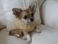 """7"""" Male/Unisex Hand Knitted Chihuahua /Small Dog/Puppy/Tea Cup/Jumper/Coat. DK"""