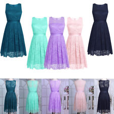Womens Short Lace Evening Formal Party Cocktail Bridesmaid Prom Ball Gown Dress