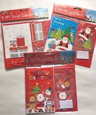 MAKE YOUR OWN DIY CHRISTMAS CARDS 5 PACK, WITH ENVELOPES STOCKING FILLER PRESENT