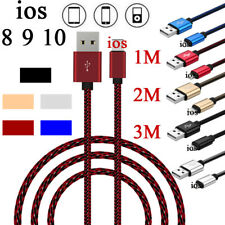 1/ 2/ 3M USB Data Sync Charging Cable Cord For Mini iPhone SE 5 6S 7 8 Plus IOS