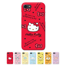 Hello Kitty Characters Protect Hard Slim Bumper Case For Apple iPhone 8 / 8Plus