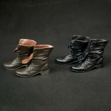 """1/6 Scale Rubber Made Leather Boots For 12"""" Male Hottoys Shideshow Action Figure"""
