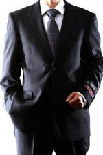 MENS 2 BUTTON SUPER 120 WOOL CHARCOAL SUIT FLAT FRONT, 40312N-40398-CHA
