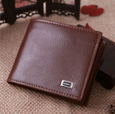 Mens Retro Leather Leather Wallet Bifold Slim Money Credit Card ID Holder Purse