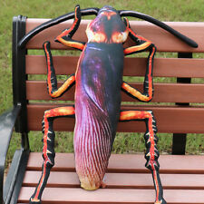 Funny Xmas Gift 3D Cockroach Pillow Soft Plush Toy Stuffed Insect Pillow Cushion