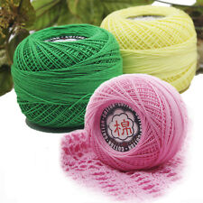Lace Cotton Crochet Thread Yarn Skein Tatting Knitting Ball 45g 15 Colors Choose