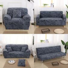1/2/3-seater Comfortable Stretch Elastic Sofa Couch Slip Cover Dark Grey