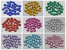 250 Flatback Acrylic Rhinestone Round Button 8mm Sew on beads Color for choice