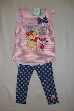 """DISNEY  WINNIE THE POOH 2 piece TOP & LEGGINGS  NWTS  """"BEST DAY EVER"""""""