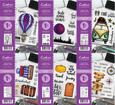 Crafters Companion A6 November Adventure Travel Collection Rubber Stamps