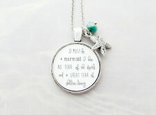 I Must Be A Mermaid Handcrafted Pendant Necklace with Starfish and Bead Charm