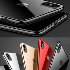 For Apple iPhone X/7 Plus Clear TPU Case 360° Thin Bumper Back Rubber Soft Cover