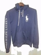"Polo Ralph Lauren Blue/White ""POLO RALPH LAUREN"" Spellout Big Pony Hoodie"