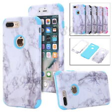 Hybrid Granite Marble Texture Skin High Impact Shockproof Case Shell For iPhone