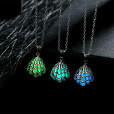 1PCS Vogue Punk Style Wing Pendant Glow In The Dark Stainless Steel Necklace