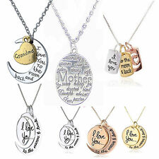 I Love You To The Moon And Back Mothers Mum Day Pendant Necklace Jewellery UK