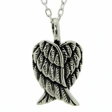 Angel Wings Pendant ~ 925 Sterling Silver ~ Guardian Angel Necklace Cable Chain