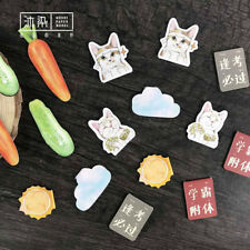 2Pc Cat Vegetable Resin Bookmarks Book Stationery Decor School Supplie Kids Gift