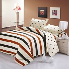 Fashionable stripe pattern 4PC bed set Queen Size Cotton