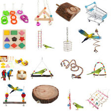 Parrot Birds Play Center Chewing Foraging Training Toy Cage Hanging Swing Perch